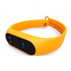 Сменный силиконовый ремешок для Хiaomi Mi Band 2, оранжевый, фото 3