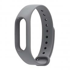 Сменный силиконовый ремешок для Хiaomi Mi Band 2, серый, фото 1