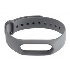 Сменный силиконовый ремешок для Хiaomi Mi Band 2, серый, фото 2