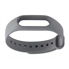 Сменный силиконовый ремешок для Хiaomi Mi Band 2, серый, фото 3
