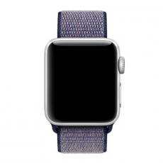 Спортивный браслет для Apple Watch 38 мм, плетеный нейлон, темно-синий, фото 2