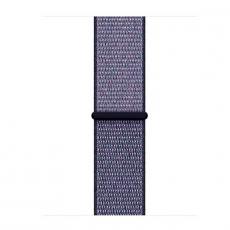 Спортивный браслет для Apple Watch 38 мм, плетеный нейлон, темно-синий, фото 3