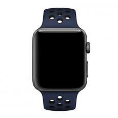 Спортивный ремешок Nike для Apple Watch 42 мм, S/M и M/L, обсидиан / чёрный, фото 2