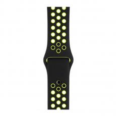 Спортивный ремешок Nike для Apple Watch 42 мм, чёрный/салатовый, фото 2