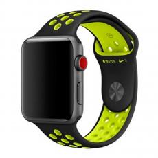 Спортивный ремешок Nike для Apple Watch 42 мм, чёрный/салатовый, фото 1