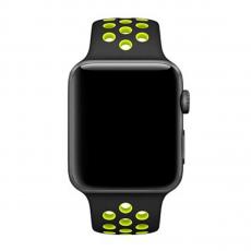 Спортивный ремешок Nike для Apple Watch 42 мм, чёрный/салатовый, фото 3