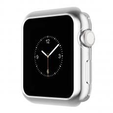 Чехол силиконовый для Apple Watch 38 mm, прозрачный, фото 3