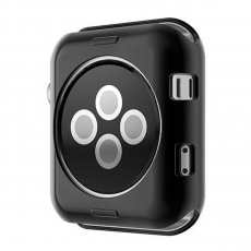Чехол силиконовый для Apple Watch 42 mm, черный, фото 3