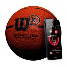 Баскетбольный мяч Wilson X Connected Smart Basketball с отслеживанием бросков, оранжевый, фото 1
