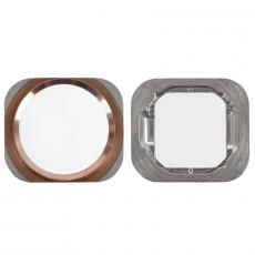 """Кнопка """"домой"""" для iPhone 6S/6S Plus, в сборе со шлейфом, оригинал, """"розовое золото"""", фото 1"""