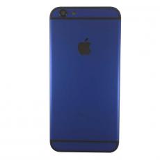 Корпус-крышка для iPhone 6, с черным лого, класс A, матовый темно-синий, фото 1