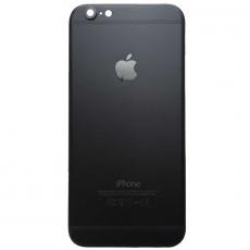 Корпус-крышка для iPhone 6S, с черным лого, класс A, матовый черный, фото 1
