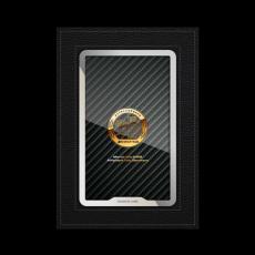 """Обложка для автодокументов Jumo, итальянская кожа, никель с позолотой 24К, """"AMG"""", фото 1"""