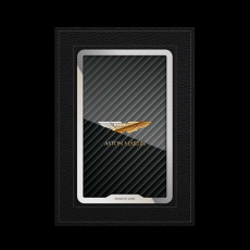 """Обложка для автодокументов Jumo, итальянская кожа, никель с позолотой 24К, """"Aston Martin"""", фото 1"""