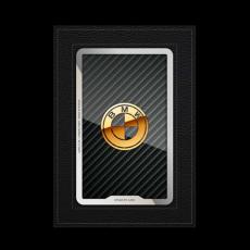 """Обложка для автодокументов Jumo, итальянская кожа, никель с позолотой 24К, """"BMW"""", фото 1"""