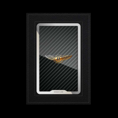 """Обложка для автодокументов Jumo, итальянская кожа, никель с позолотой 24К, """"Bentley"""", фото 1"""