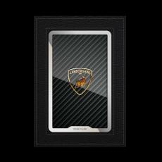"""Обложка для автодокументов Jumo, итальянская кожа, никель с позолотой 24К, """"Lamborghini"""", фото 1"""