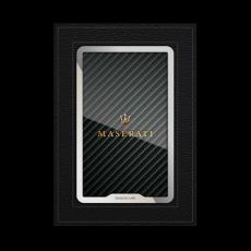 """Обложка для автодокументов Jumo, итальянская кожа, никель с позолотой 24К, """"Maserati"""", фото 1"""