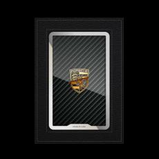 """Обложка для автодокументов Jumo, итальянская кожа, никель с позолотой 24К, """"Porsche"""", фото 1"""