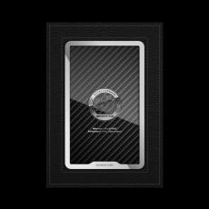 """Обложка для автодокументов Jumo, итальянская кожа, никель с посеребрением, """"AMG"""", фото 1"""
