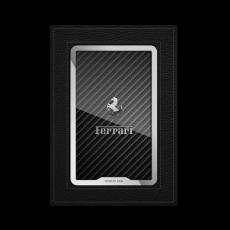 """Обложка для автодокументов Jumo, итальянская кожа, никель с посеребрением, """"Ferrari"""", фото 1"""