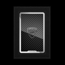 """Обложка для автодокументов Jumo, итальянская кожа, никель с посеребрением, """"Lamborghini"""", фото 1"""