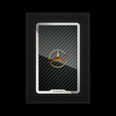 """Обложка для автодокументов Jumo, итальянская кожа, никель с позолотой 24К, """"Mercedes-Benz"""", фото 1"""