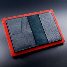"""Обложка для автодокументов Jumo, итальянская кожа, никель с позолотой 24К, """"AMG"""", фото 2"""