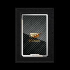 """Обложка для паспорта Jumo, натуральная кожа, никель с позолотой 24K, """"Cadillac"""", фото 1"""