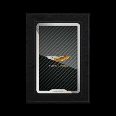 """Обложка для паспорта Jumo, натуральная кожа, никель с позолотой 24K, """"Aston Martin"""", фото 1"""