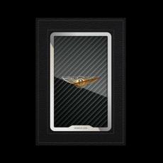 """Обложка для паспорта Jumo, натуральная кожа, никель с позолотой 24K, """"Bentley"""", фото 1"""