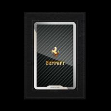 """Обложка для паспорта Jumo, натуральная кожа, никель с позолотой 24K, """"Ferrari"""", фото 1"""