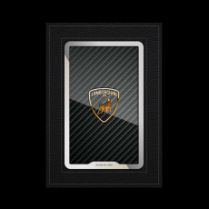 """Обложка для паспорта Jumo, натуральная кожа, никель с позолотой 24K, """"Lamborghini"""", фото 1"""
