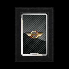"""Обложка для паспорта Jumo, натуральная кожа, никель с позолотой 24K, """"MINI"""", фото 1"""