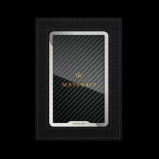 """Обложка для паспорта Jumo, натуральная кожа, никель с позолотой 24K, """"Maserati"""", фото 1"""