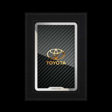 """Обложка для паспорта Jumo, натуральная кожа, никель с позолотой 24K, """"Toyota"""", фото 1"""