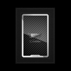 """Обложка для паспорта Jumo, натуральная кожа, никель с посеребрением, """"Cadillac"""", фото 1"""