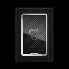 """Обложка для паспорта Jumo, натуральная кожа, никель с посеребрением, """"Lamborghini"""", фото 1"""