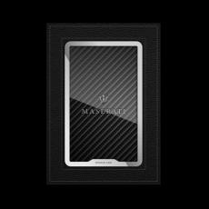 """Обложка для паспорта Jumo, натуральная кожа, никель с посеребрением, """"Maserati"""", фото 1"""