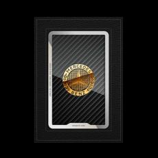 """Обложка для паспорта Jumo, натуральная кожа, никель с позолотой 24K, """"Mercedes-Benz"""", фото 1"""