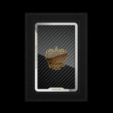 """Обложка для паспорта Jumo Cover из натуральной кожи, никель с позолотой 24К, """"Герб РФ"""", фото 1"""
