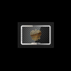 """Обложка для удостоверения Jumo, итальянская кожа, карбон, никель с позолотой 24K, """"Герб РФ"""", фото 1"""