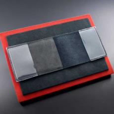 """Обложка для удостоверения Jumo, итальянская кожа, карбон, никель с позолотой 24K, """"Герб РФ"""", фото 3"""