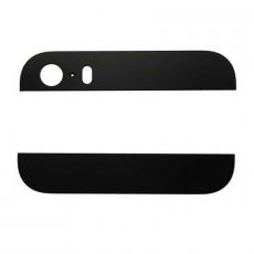 Стеклянные вставки (верх + низ) для iPhone 5S, оригинал, черный, фото 1