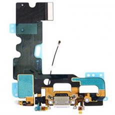 Шлейф аудио и зарядки для iPhone 7, оригинал, белый, фото 1