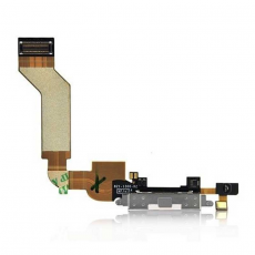 Шлейф разъема зарядки для iPhone 4, оригинал, белый, фото 1