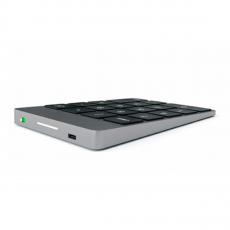 Беспроводная клавиатура Satechi Slim Rechargeable Aluminum Bluetooth Keypad, темно-серая, фото 3