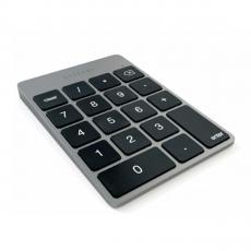Беспроводная клавиатура Satechi Slim Rechargeable Aluminum Bluetooth Keypad, темно-серая, фото 1