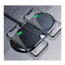 Беспроводное зарядное устройство Baseus Dual Wireless Charger на два устройства, черное, фото 2