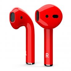 Беспроводные наушники Apple AirPods Color,красные глянцевые, фото 1